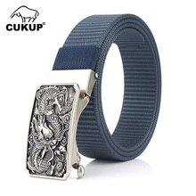 Assez-boucles Dragon chinois pour hommes, Design Unique, ceintures en métal, en Nylon de haute qualité, accessoires de 3.5cm de largeur, CBCK167