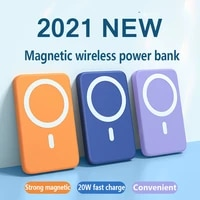 10000mah magnetic wireless power bank 15w mobile phone fast charger for iphone 12 13 12pro 13pro max external auxiliary battery