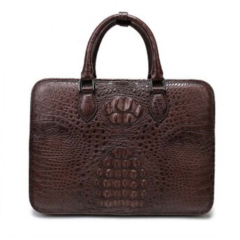weitasi new arrival crocodile leather men bag men handbag business men briefcase fashion big bag men tote bags