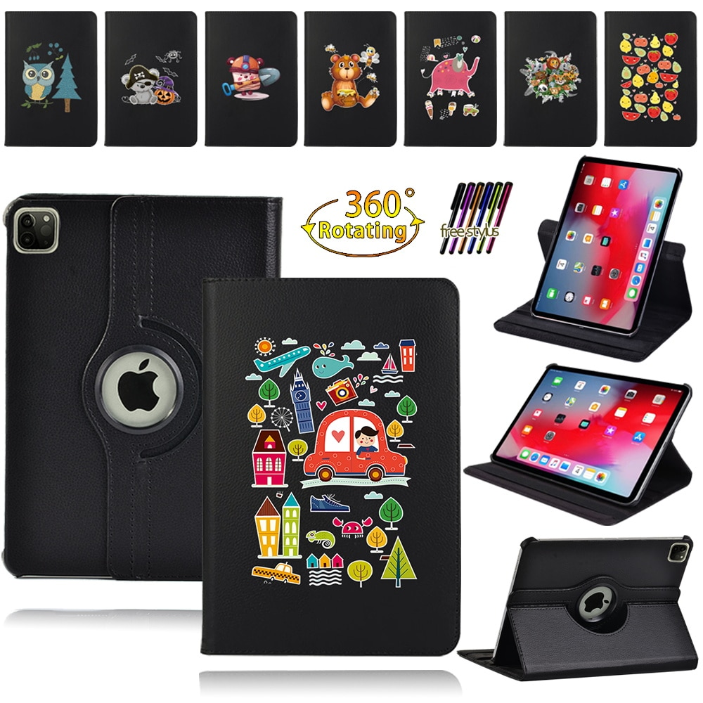 360 Degree Rotating PU Leather Flip Case Cover for Apple Ipad Air 1/2 9.7