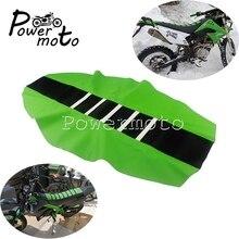 Housse de siège en caoutchouc modifié   Pour Kawasaki KLX KXF, housse universelle de siège rainuré pour Enduro Motocross KLR KX 100 65 85 250 450 650 110