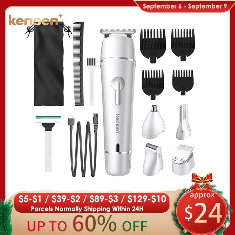 Kensen Clipper Electric Shaver Men's Razor Beard Trimmer Shaver For Men All In One Hair Trimmer Grooming Beard Shaving all for beard