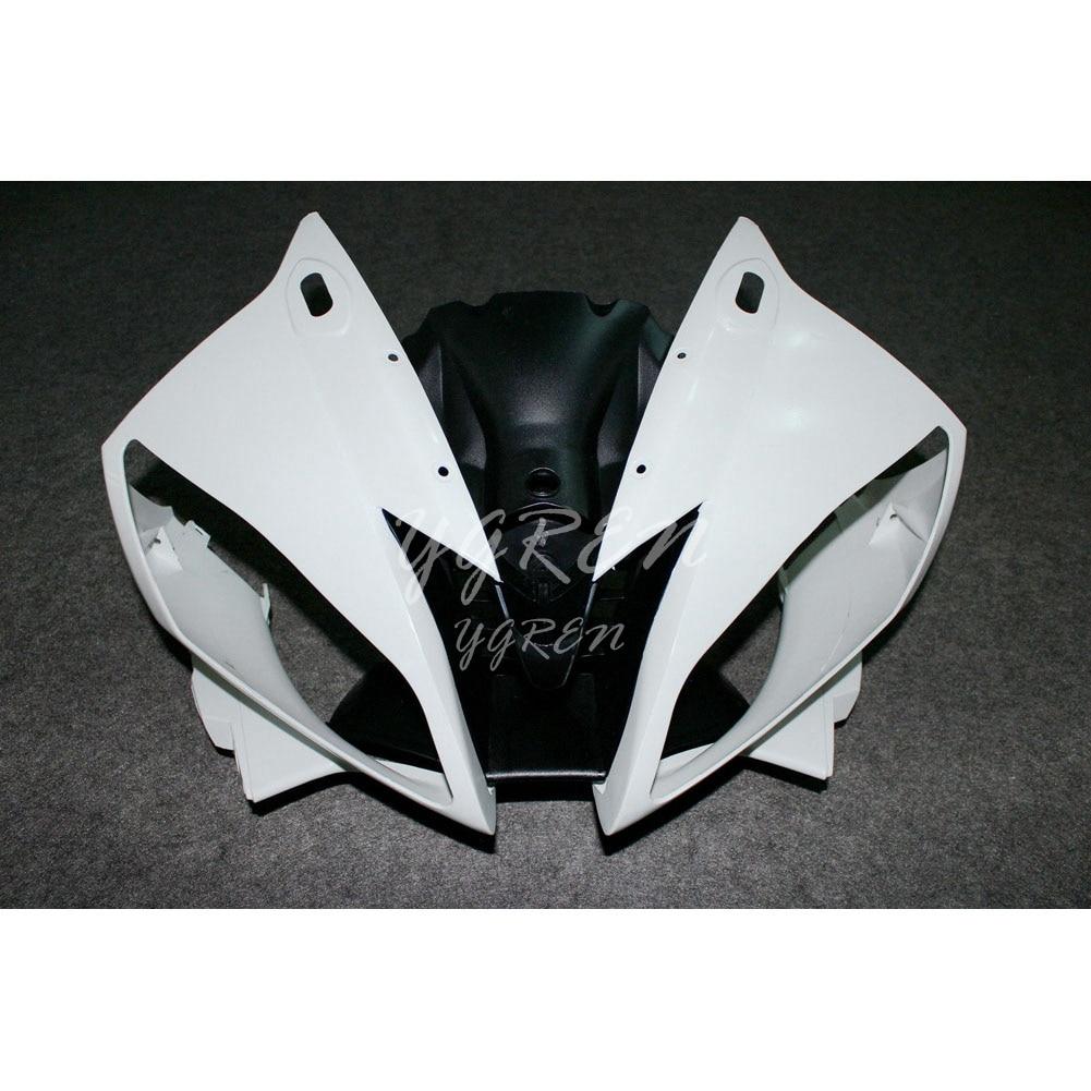 Fender carenado capucha cabeza frontal nariz adecuada para Yamaha YZF R6 2006 2007 motocicleta blanca sin pintar