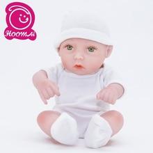 "25CM Handmade Cute Mini Bebe Reborn Baby Doll 10"" Full Silicone Vinyl Lifelike Baby Reborn  Toy Childrens Day Kids Xmas Gift"