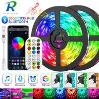 Bluetooth Светодиодная лента 5-30 м 5050/2835 светодиодная ленсветильник Светодиодная лента rgb светодиодная Диодная лента Водонепроницаемая контрол...