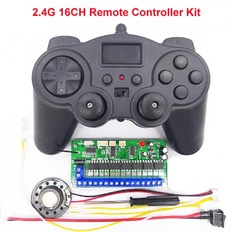 1 مجموعة 16CH 2.4G المتقدمة التحكم عن بعد استقبال 3.7V الارسال التحكم اللاسلكية كيت لنموذج حفارة DIY لعبة سيارة روبوت