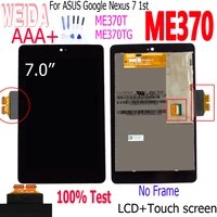 WEIDA Neue 7 0  Fur Asus Google Nexus 7 2012 1st Gen Me370 ME370T ME370TG LCD Touch Screen Panel Montage 100  Test ME370 LCD