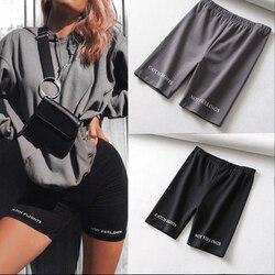 Shorts de cintura alta feminino, shorts da moda de cintura alta, sexy, fitness, coreano, casual, sexy, de algodão, preto, atlazer, ciclismo, 2020
