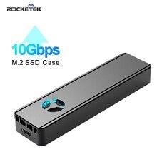 Rocketek M2 SSD durumda NVME muhafaza dahili soğutma fanı M.2 için USB tip C 3.1 adaptörü NGFF için PCIE M anahtar B & M anahtar Disk kutusu