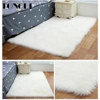 tongdi carpet mat soft elegant shaggy nursery woolly suede plush anti slip rug luxury decor for home bedroom parlour living room