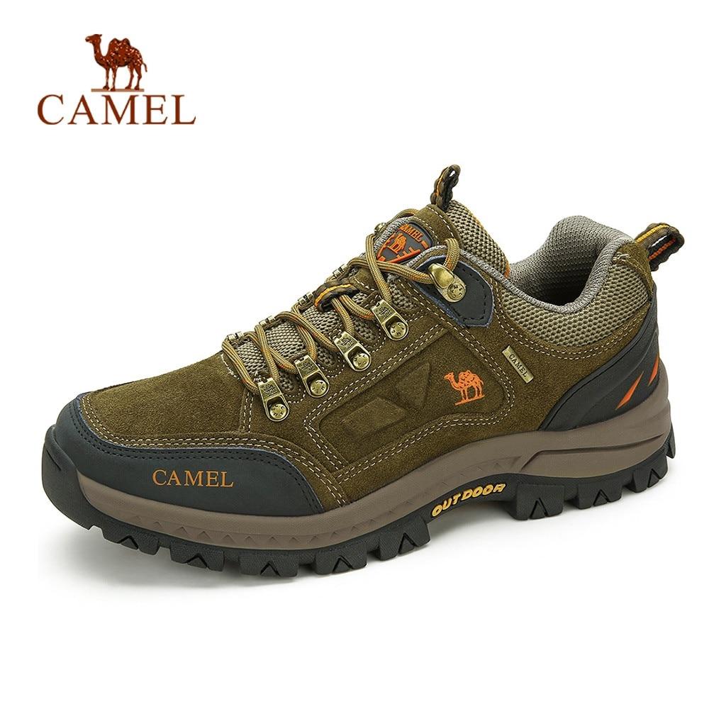 CAMEL-أحذية المشي لمسافات طويلة في الهواء الطلق للرجال والنساء ، أحذية تسلق الجبال عالية الجودة ومضادة للانزلاق ، متينة وقابلة للتنفس