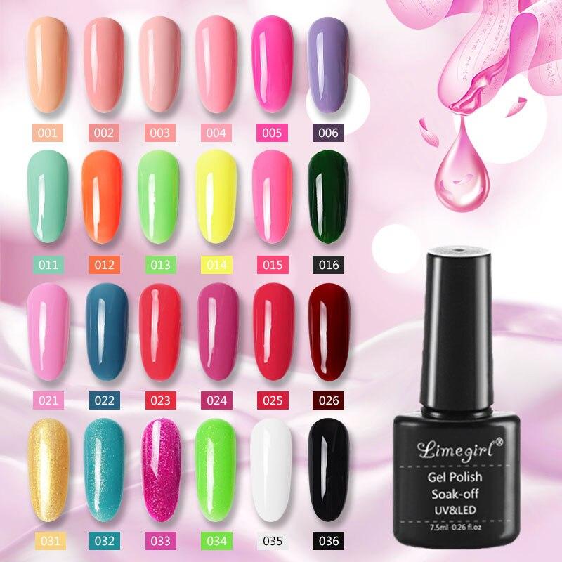 Limegirl 80 Colors Neon Gel Nail Polish Nail UV Gellak Gel Varnish Soak Off White/Black/Green Gel Polish Glitter Gelpolish Nails