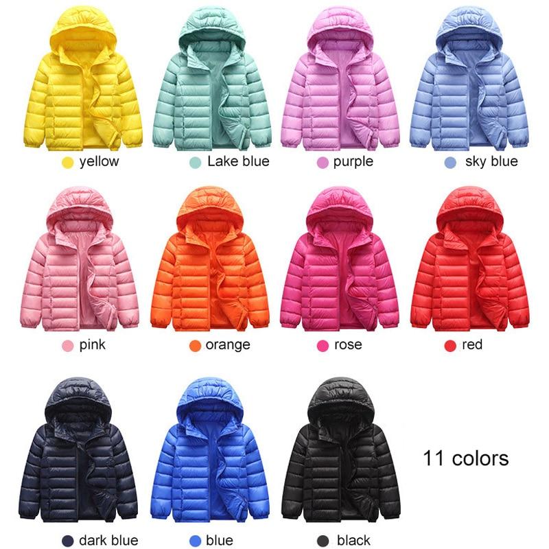 90% Duck Down Jacket Coat Baby Girls Boys Parka Kids Jacket Hood Winter Children Jacket Spring Fall Toddler Outerwear 1-12 Year