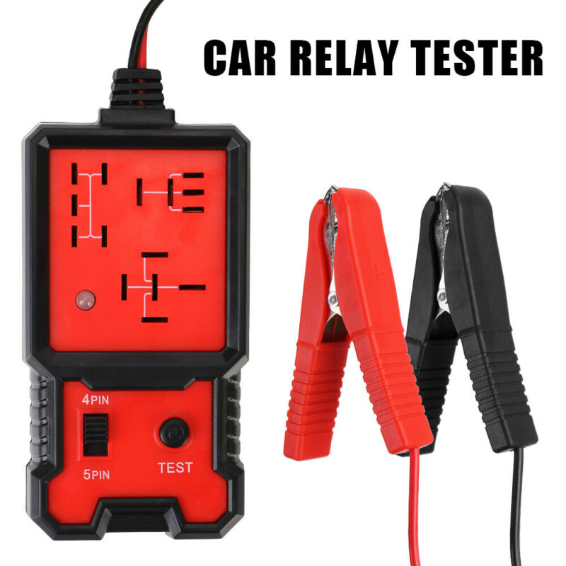 Релейный Тестер 12 В, универсальный автомобильный электронный детектор цепи, тестер батареи, точный инструмент для ремонта автомобиля, дете...