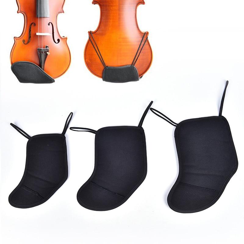 Violin Chin Shoulder Rest Soft Cotton Pad Sponge Cover Protector for 1/8 1/21/4 4/43/4 Bridge Type Violin Fiddle Accessories