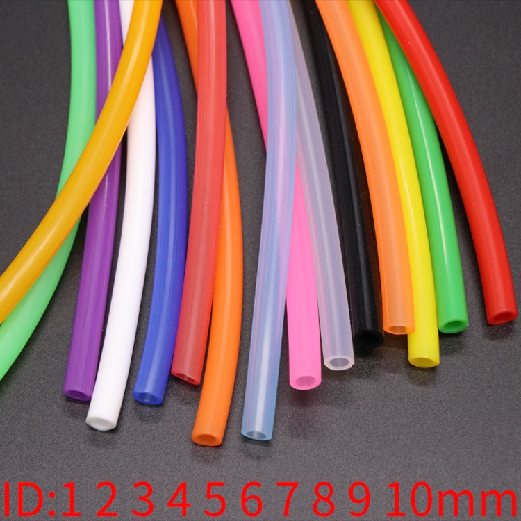 1 Meter ID 1 2 3 4 5 6 7 8 9 10 mm Silicone Tube Flexible Rubber Hose Food Grade Soft Drink Pipe Water Connector Colorful