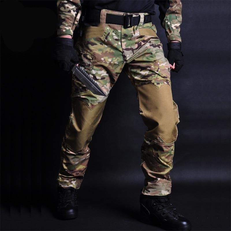 Тактические Брюки камуфляжные мужские джоггеры военные Карго спортивные брюки свободные камуфляжные повседневные брюки джоггеры тактиль...