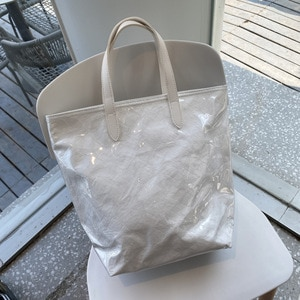 handbag female large capacity student personality female bag simple PVC bag portable Korean version  jelly kraft paper shopping
