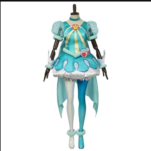 Lala o Mesmo Luz das Estrelas Anime Brilhando Bela Menina Cos Galáxia Anjo Yuyi Traje Cosplay Luz