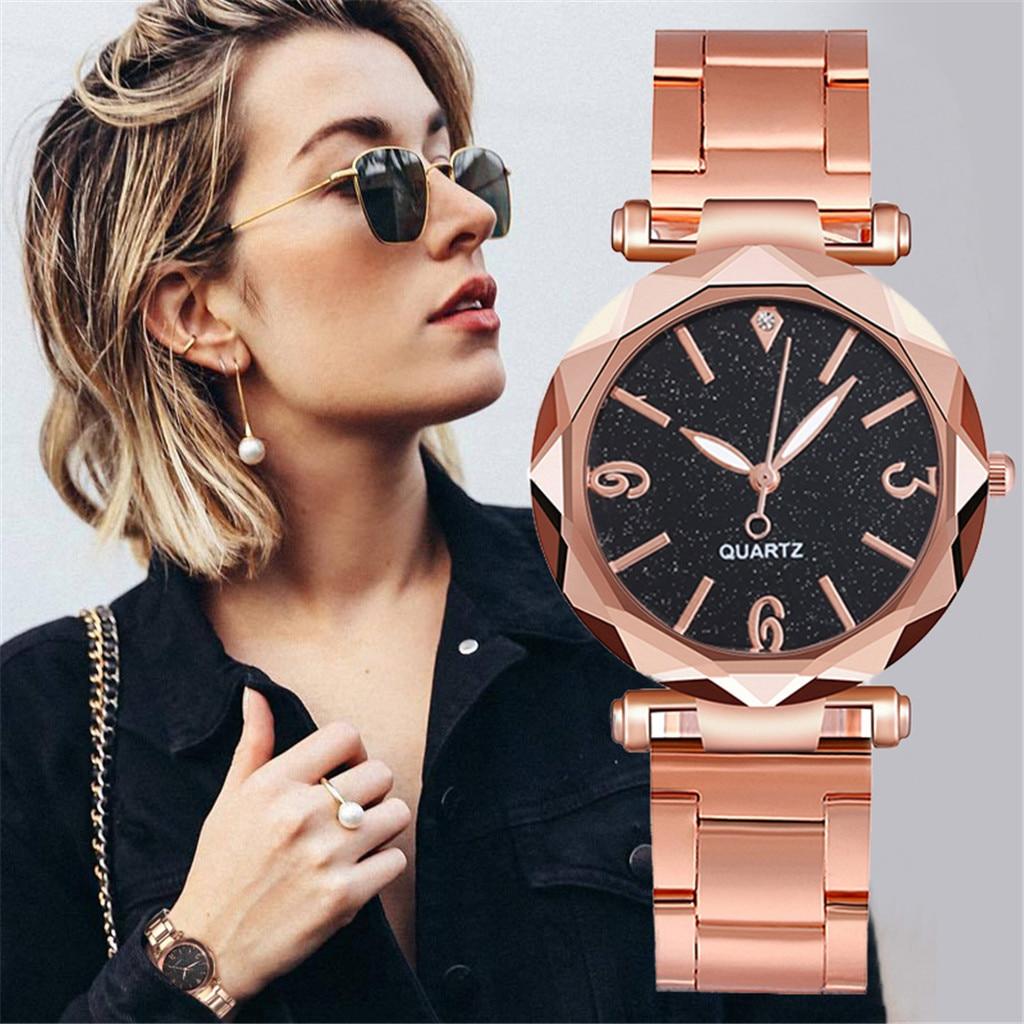 2020 gran oferta de relojes de lujo reloj de cuarzo Acero inoxidable Dial Casual pulsera reloj para dama часы женские наручные # F32
