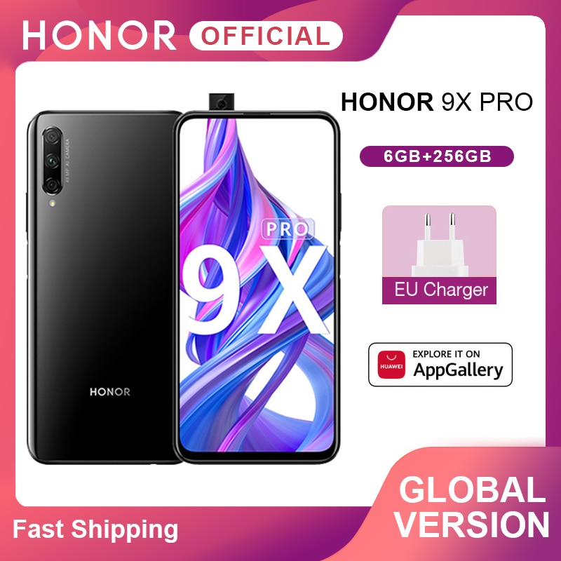 "Versión Global Honor 9X Pro Smartphone Kirin 810 de 6GB 256GB 6,59 ""pantalla completa 48MP Triple trasero cámaras teléfonos móviles 4000mAh"