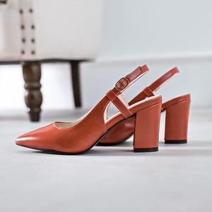 High Heels Sandals Women Leather Sandals Women Wedding Shoes Fashion Woman Shoes High Heels Sexy Sandals Pink Block Heels New