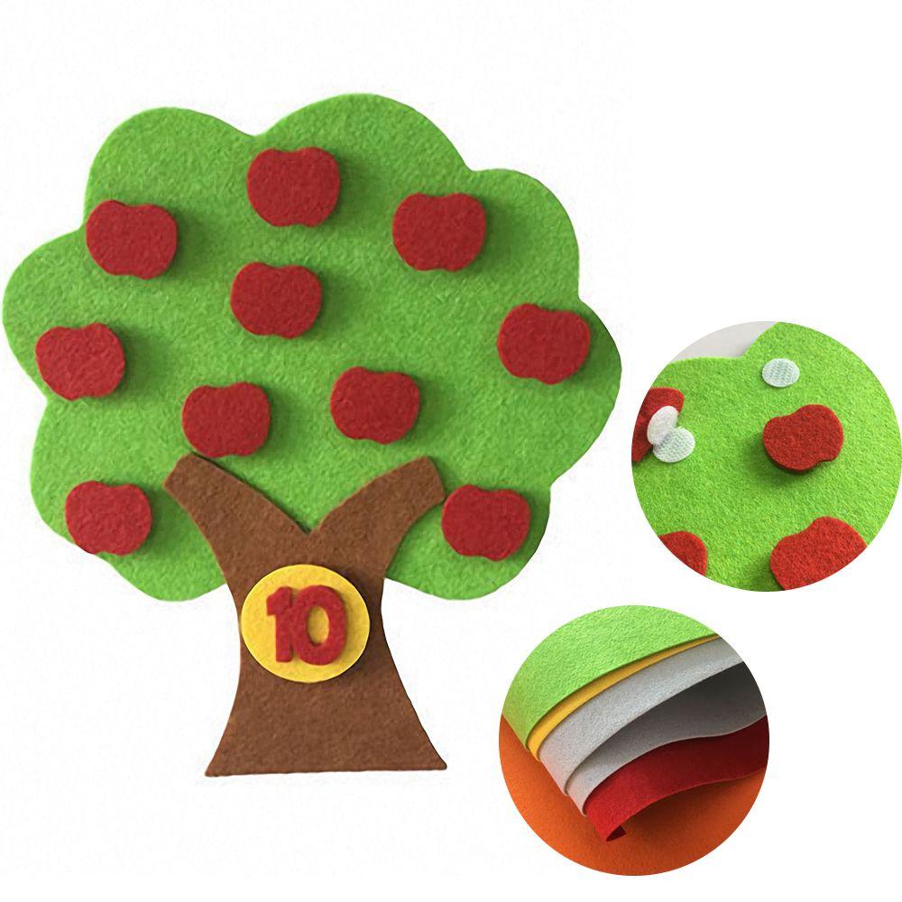 Обучающая игрушка Монтессори тканевый материал яблоко развивающая