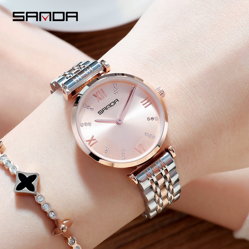 2020 NEW Women's Watches Luxury Gold Watch Clock Women Quartz Watch Waterproof Ladies Wacthes Reloj Mujer Montre Femme enlarge