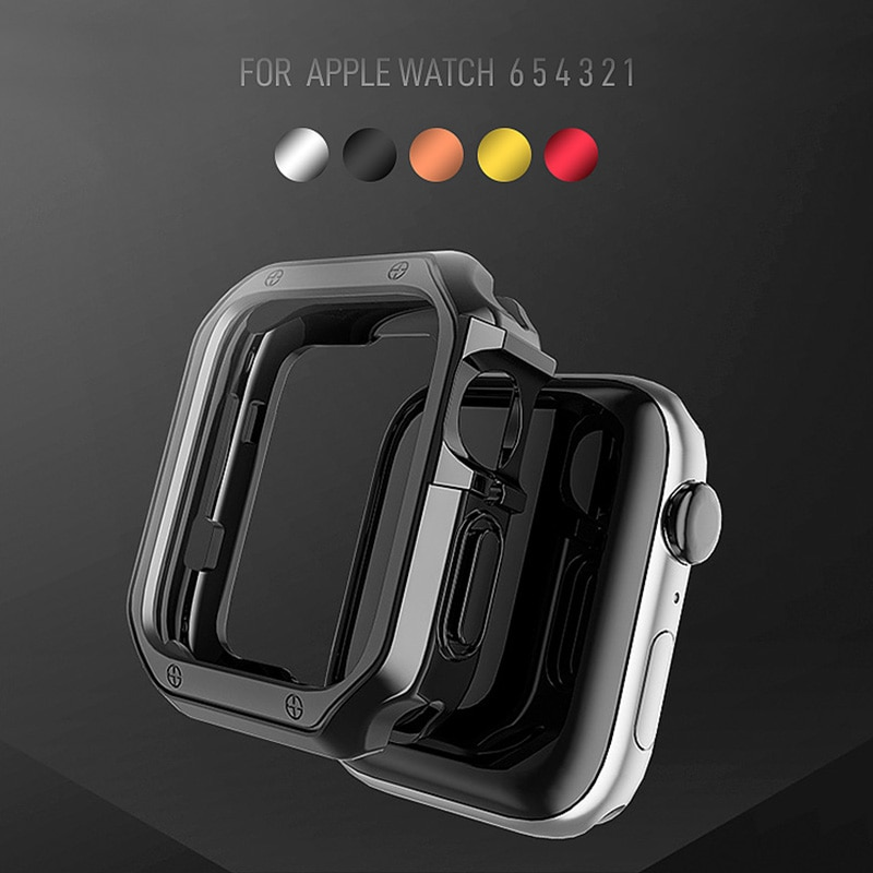 case for apple watch se 6 5 4 3 2 1 38mm 40mm watch cover protective case carbon fiber pattern pc case for iwatch 6 se 42mm 44mm Watch Case for Apple Watch SE 38mm 42mm Shell Plating PC Protective Case For applewatch Series 6 se 5 4 3 iWatch 40mm 44mm