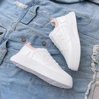 korean style small white shoes womens fashion 2021 autumn new breathable student thick soled shoes womens casual shoes
