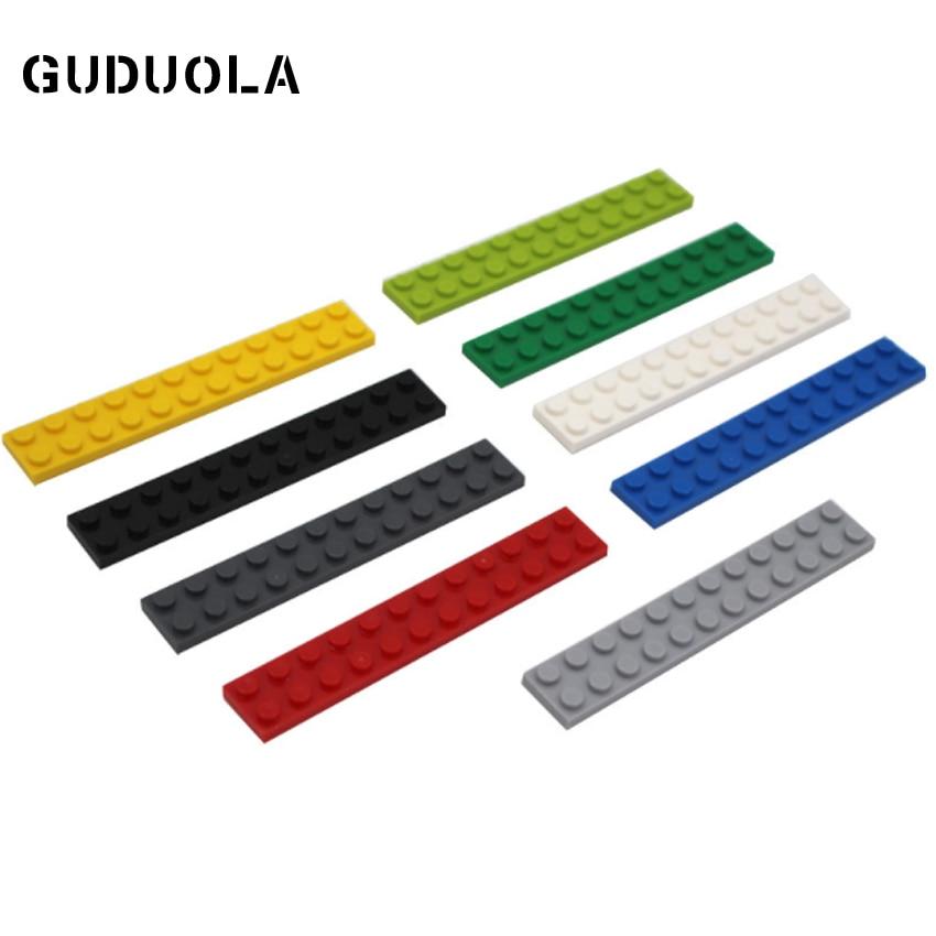 Строительные блоки Guduola 2x12 MOC, детали, совместимые с 2445, базовый кирпич, креативные блоки «сделай сам», мелкие детали, блоки 28 шт./лот