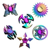 new metal colorful butterfly dart lotus stress relief fidget spinner finger spinner kids toy gift