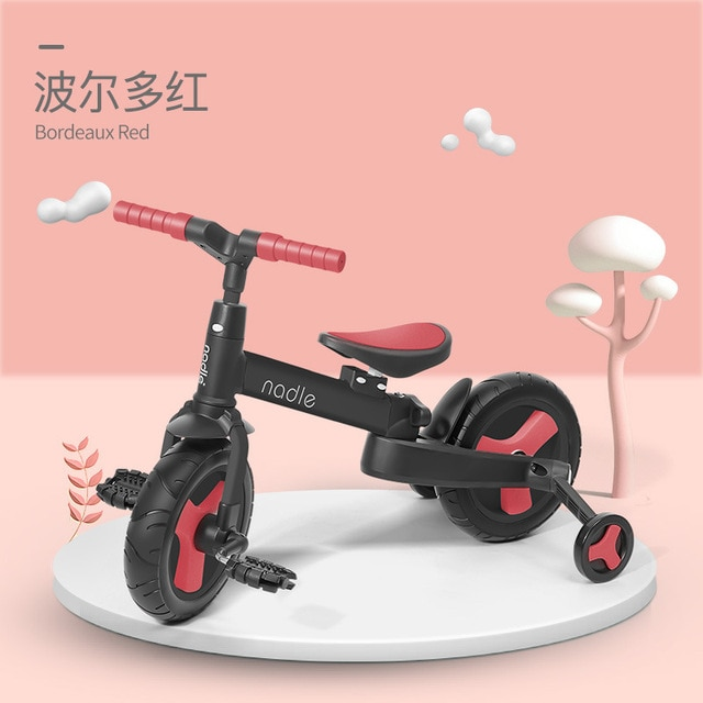 LazyChild Hot 5-in-1 Infant Trike Foldable Baby Balance Bike Multi-function Kid Kick Scooter Child Stroller Gift For 1-6 Years enlarge