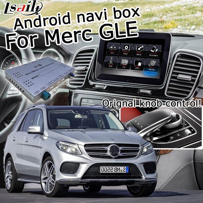 Android/interfaz carplay caja del sistema para Mercedes benz GLE W166 NTG 5,0 GPS vídeo, navegación interfaz enlace espejo ML Lsailt