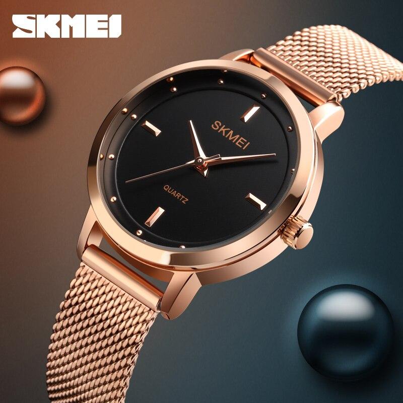 SKMEI Simple Ladies Wristwatches Female Business Watch Top Brand Fashion Women Quartz Watch Montre Femme 1528 enlarge