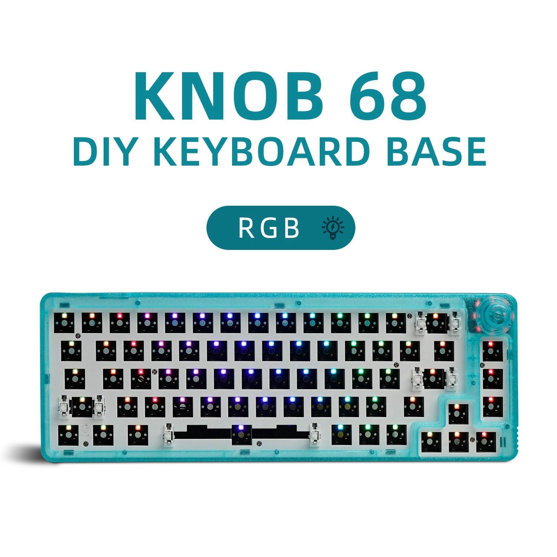 Mechanical k680 DIY BASE 60%KIT Hotswap DIY Keyboard Customized KIT RGB music rhythm Software driver Mechanical Gaming Keyboard