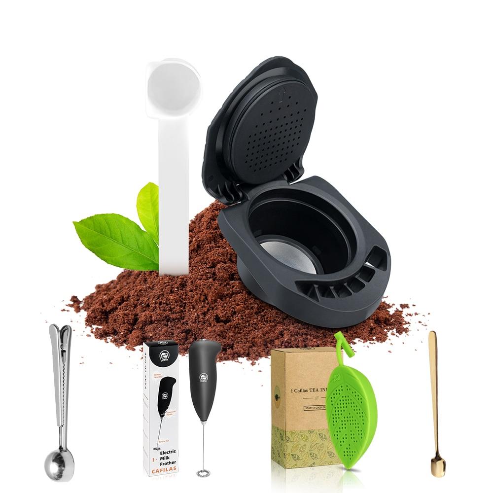 Icafilas محول ل Piccolo X صانع قابلة لإعادة الاستخدام القهوة كبسولة ل Dolce Gusto Genio S مضخة قهوة حامل الشاي تصفية frother ملعقة