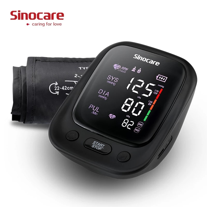 aliexpress.com - Blood Pressure Monitor Upper Arm, Automatic Digital BP Machine Heart Rate Pulse Monitor with Voice Function & Large LCD Display