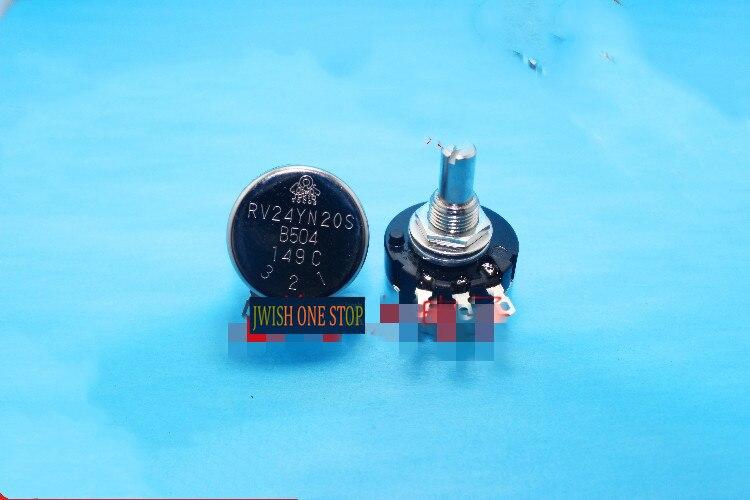 مقياس جهد أحادي الدوران RV24YN20S B504 500K
