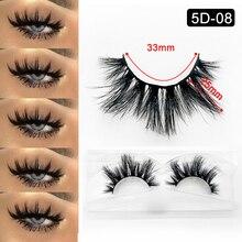 5D vison cils bandes personnalisé cils emballage dramatique cils 25MM vison cils en vrac longue épaisse soie yeux maquillage accessoires