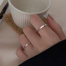 Silver 925 Sterling Silver Simple Bracelet Ring for Women 2020 New Trendy Special-Interest Design In