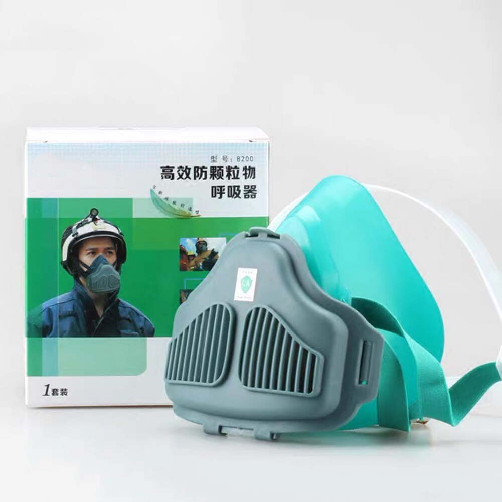 8200 Gas Mask acid dust Respirator Paint Pesticide Spray Silicone filter Laboratory cartridge weldin