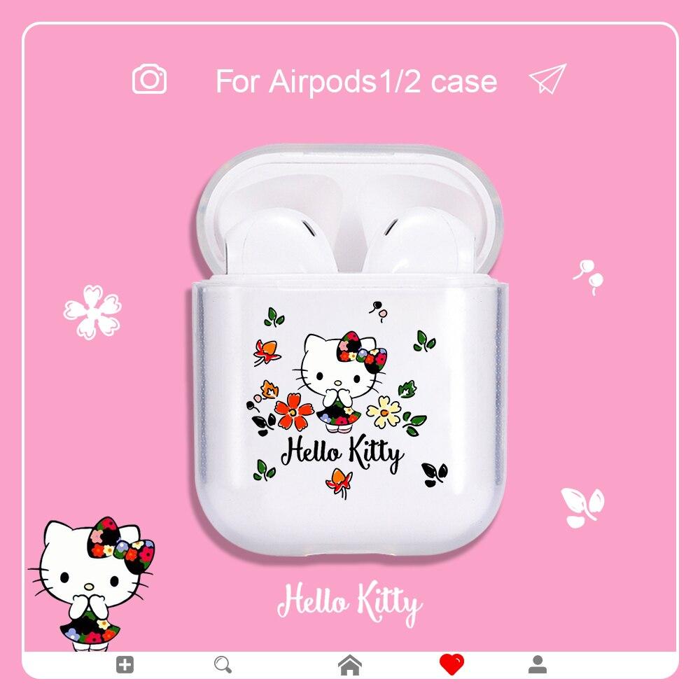 Funda de silicona blanda para funda de Airpods, funda protectora a prueba de golpes para Airpods 1/2, funda Kitty para Airpods1/2