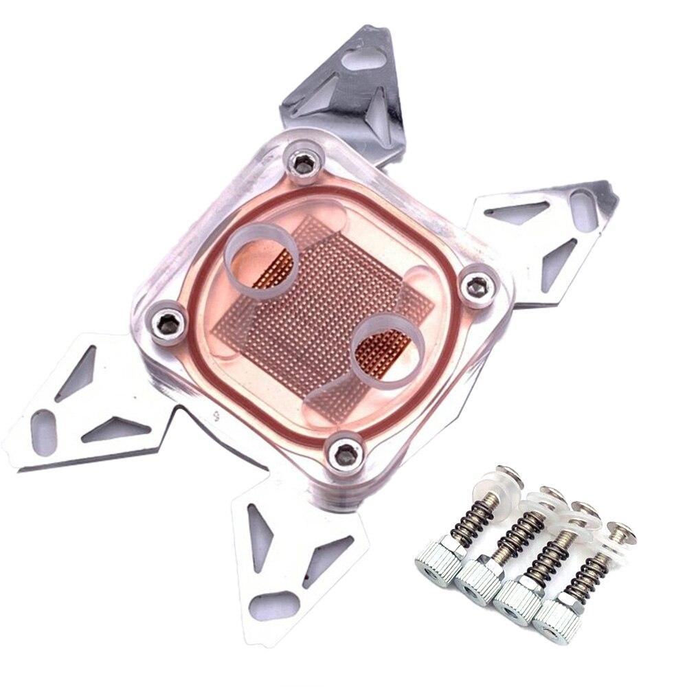 كمبيوتر وحدة المعالجة المركزية تبريد المياه كتلة قاعدة نحاس لوح فولاذي بوم غطاء ل LGA 1155 2011 AMD AM4 مراوح التبريد