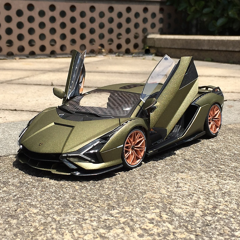 Bburago 1:18 Scale Lamborghini Sian FKP 37 Alloy Luxury Vehicle Diecast  Cars Model Toy Collection Gift alloy model gift 1 50 scale scania a90 city wide transit bus vehicle diecast toy model for collection decoration