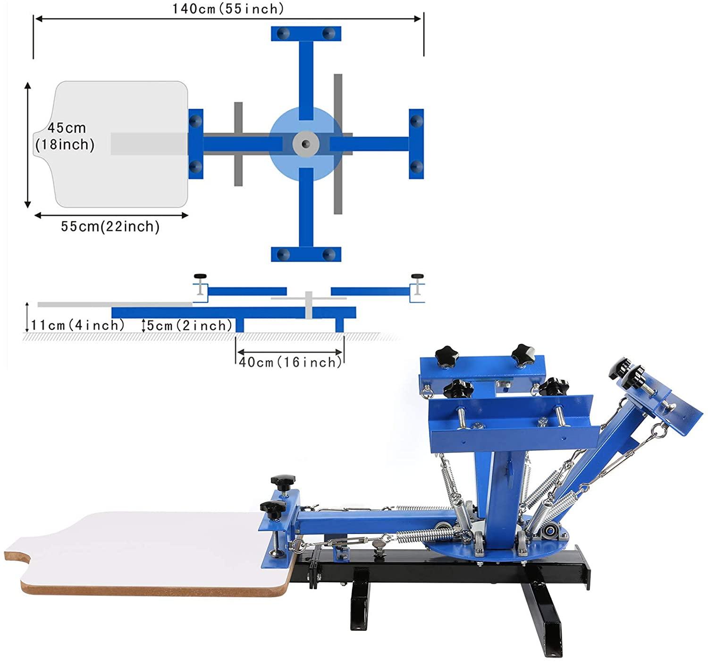 4 Color 1 station  Screen Printing Machine For T-Shirt DIY Printing enlarge