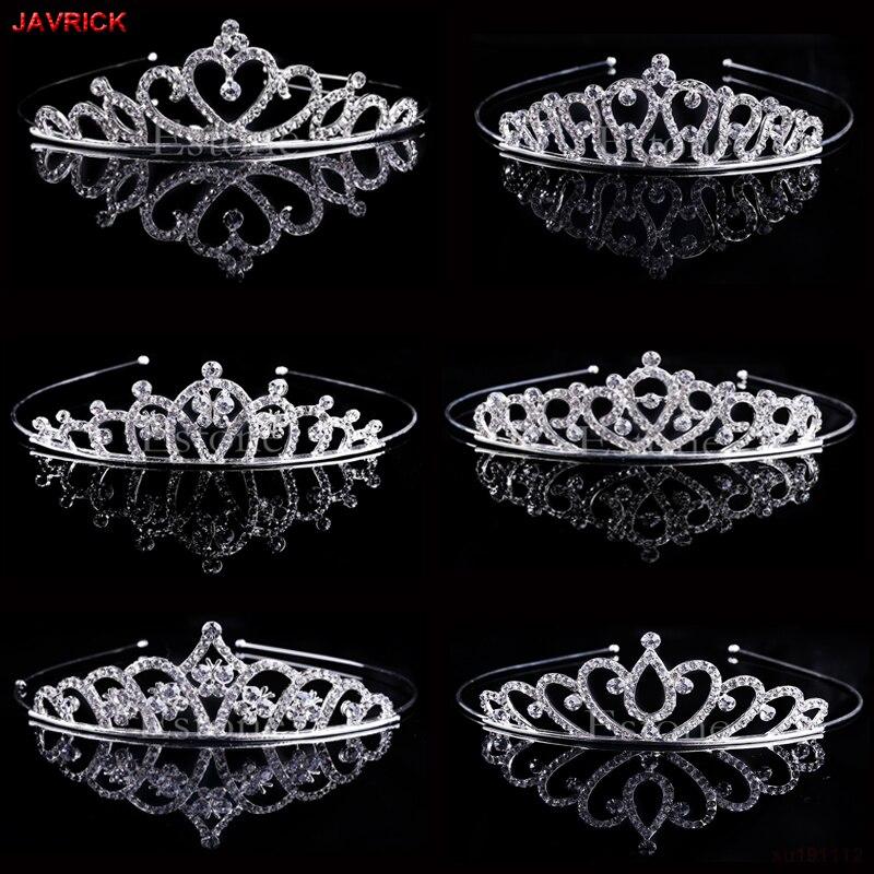 Wedding Bridal Princess Austrian Crystal Tiara Crown Veil Hair Accessory For Girls Children Tiara Crown Hair Jewelry
