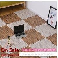 2021 newest wood grain puzzle mat baby foam play splicing bedroom thicken soft modern floor kids rug living room crawling carpet