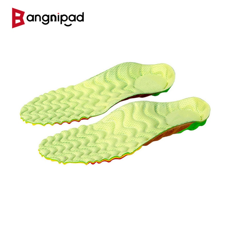 BANGNIPAD Sports Insole Flat Foot Arch Support Cushion Deodorization Shoes Pad Plantar Fasciitis Breathable for Men Women