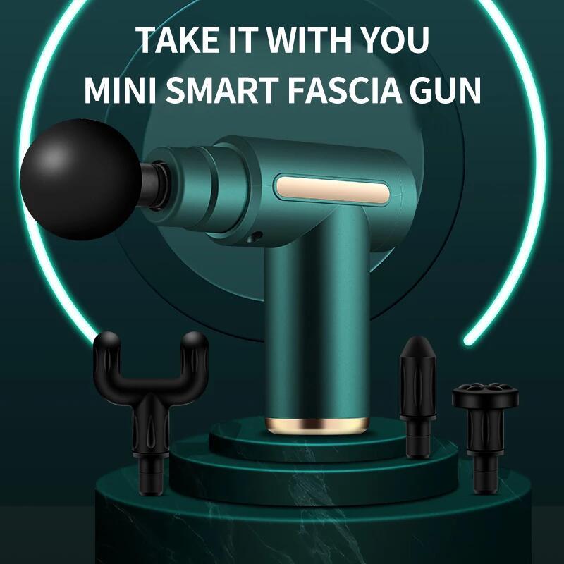 Unisex Cute Fascia Massage Gun Mini Deep Tissue Percussion Muscle Massager Pain Relief Body Health Care Sports Fitness Equipment